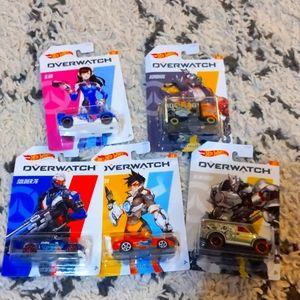 Overwatch Hotwheels complete set of 5